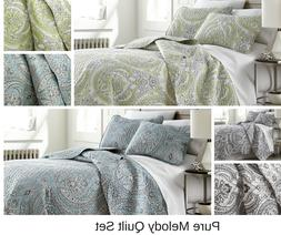 Premium Quality Lightweight Embroidered Paisley Printed 3-Pi