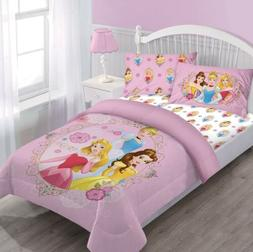 Disney Princess Belle/Cinderella Comforter+Fitted Sheet+Pill