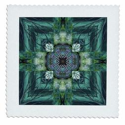 3dRose qs_6726_4 Irish Earth Cross Quilt Square, 12 by 12""