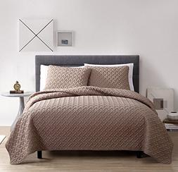 VCNY Home Nina Quilt, Full/Queen, Taupe