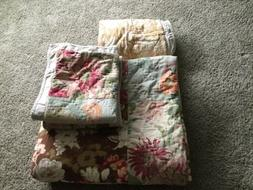 Pottery Barn Queen Size Carolina Quilt With 2 Standard Shams