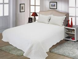 ALL FOR YOU Reversible Bedspread, Coverlet,Quilt w/ pillow s