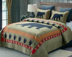 RUSTIC SOUTHWEST CABIN COUNTRY BLACK BEAR PAW COLLECTION GRE