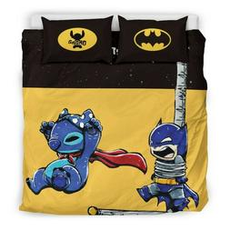 Disneys Lilo and stitch Quilt and Sham Queen Size Stitch/Bat