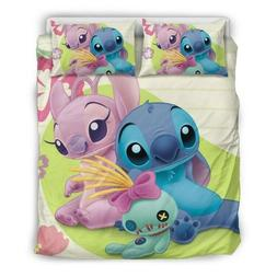 Disneys Lilo & Stitch Quilt and Shams Queen Size!  Stitch/A