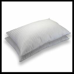 Satin Stripe Pillow T300 Egyptian Cotton Filled With Hollow