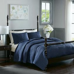 Madison Park Signature Serene Cotton Hand Quilted Coverlet S