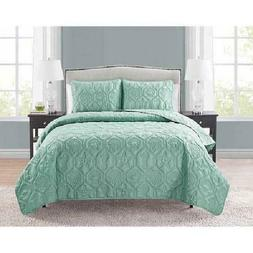 VCNY Home Shore 3-Piece Bedding Quilt Set Embossed Sea Life