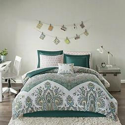Intelligent Design Tulay Complete Bed and Sheet Set Teal Ful
