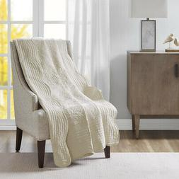Madison Park Tuscany Oversized Quilted Throw with Scalloped