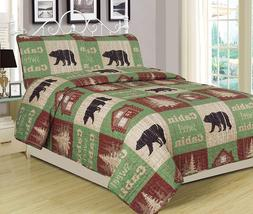 King, Full/Queen, Twin Quilt Bed Set or Curtain Panel Set Ru