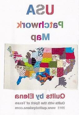 USA Patchwork Map, Quilts By Elena, DIY Quilt Pattern United
