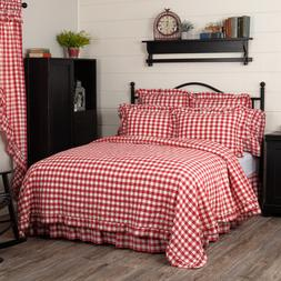 ANNIE BUFFALO RED COVERLET & ACCESSORIES. CHOOSE SIZE & ACCE
